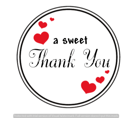 Sweet Thank-You Labels
