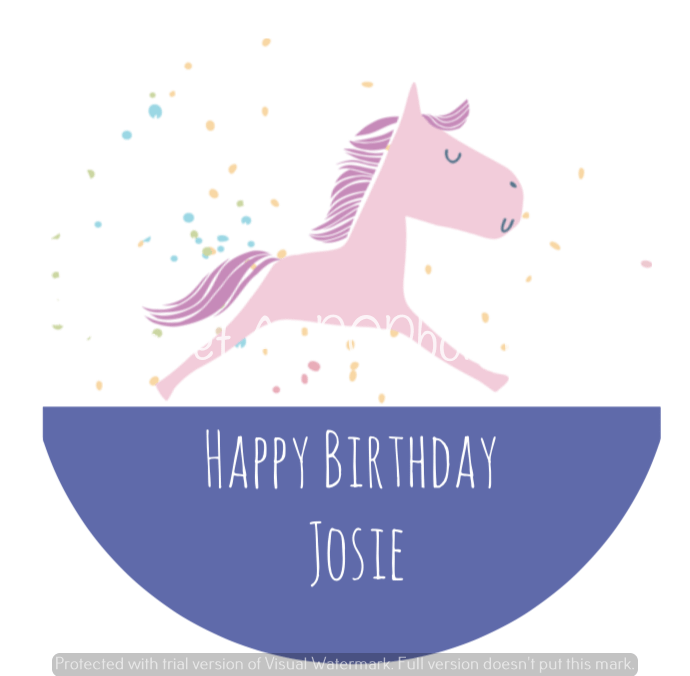 Unicorn Birthday Labels