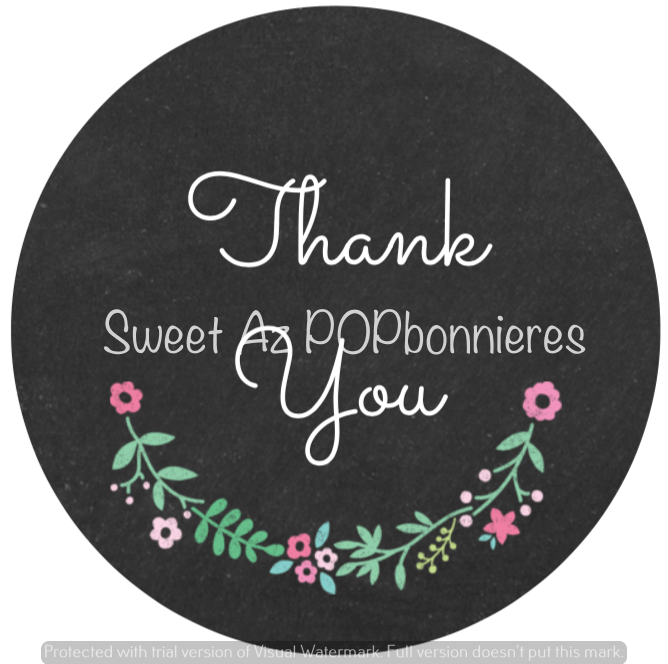 Chalkboard Thank You Labels
