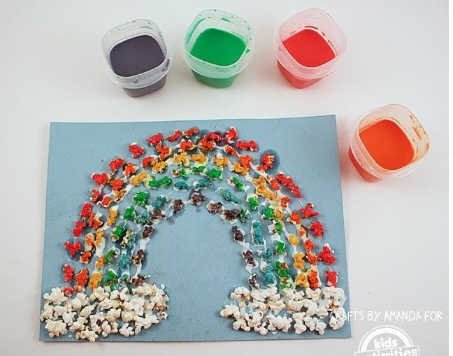 Popcorn Kids Rainbow Art